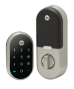 image of key-less entry lock back and front
