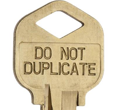 do not duplicate locksmith key copy